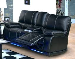 blue leather recliner chair swivel navy chairs dark reclining sofa