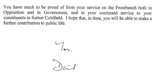 resignation letter of andrew mitchell and prime minister u0027s reply