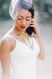wedding hair and makeup nyc hip modern vintage birdcage veil makeup country club