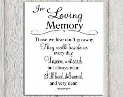 wedding memorial wording in loving memory of print memorial table wedding memorial sign