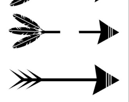 arrow with words svg etsy