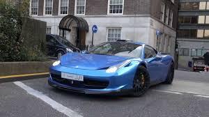 Ferrari 458 Blue - chrome blue hamann arab ferrari 458 in london driving and combos
