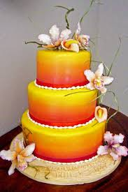 Tropical Themed Wedding Cakes - wedding cake red and yellow red yellow wedding cake to do cakes
