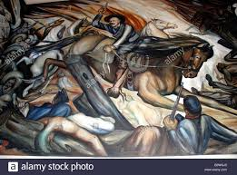 mexico chihuahua state capital building wall mural depicting state capital building wall mural depicting historic mexican battle