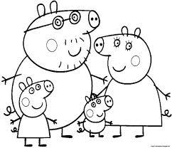 draw peppa pig kids coloring