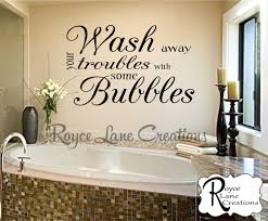 bathroom wall decor wash away your troubles with some bubbles