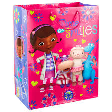 doc mcstuffins wrapping paper doc mcstuffins large gift bag 13 gift bags hallmark