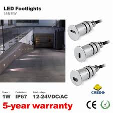 Outdoor Recessed Led Lighting Fixtures by Pack Of 10 Led Stair Step Lighting 12v 1w Pathway Lighting