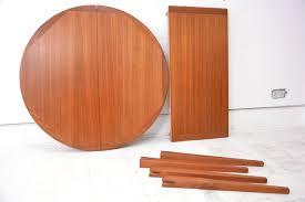 round teak dining table extendable circular teak table danish homestore