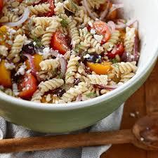 pasta salad recipes cold rustic mediterranean cold pasta salad recipe chatelaine com
