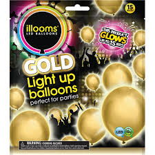 plans led light up balloons illooms light up gold party balloons 15 pack walmart
