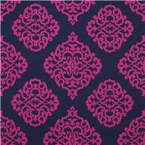 navy blue sultana michael miller ornament fabric ornament