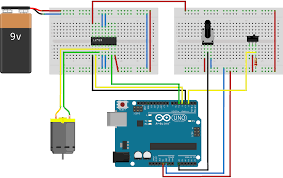 control dc motor with arduino wiring diagram components