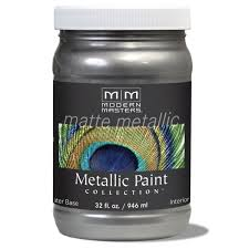 amazon com modern masters mm209 matte metallic paint pewter