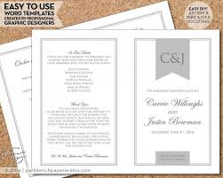 easy wedding program template wedding program template simple banner gray diy editable word
