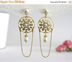 Long Chandelier Earrings Dangle Earrings 25 Sale Long Bridal Earrings Bridal Dangle Earrings Dangle
