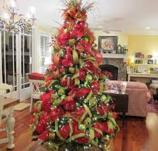 dazzling christmas tree decorating with mesh pictures astounding