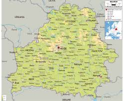 Physical Map Europe by Maps Of The Belarus Detailed Map Of The Belarus In English And