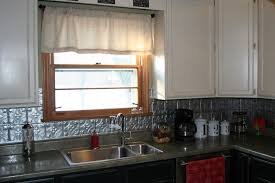 Tin Tiles For Backsplash In Kitchen Kitchen Appealing Kitchen Decoration Using Dark Brown Black Tin