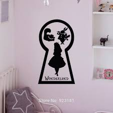 alice in wonderland home decorcheap wall canvas alice in wonderland alice in wonderland cheshire cat silhouette wall art sticker decal