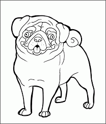 pug puppy coloring pages christmas pug coloring pages kids