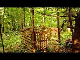 2 Person Deer Blind Plans Building A Shipping Pallet Hunting Blind Part 1 Youtube