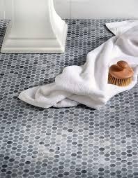 bathroom flooring best penny round tile bathroom floor home