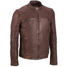 Lightweight Leather Motorcycle Jacket 50 Off Brown Moto