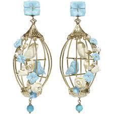 Aegean Chandelier Earrings Turquoise Blue Turquoise Drop Earrings Polyvore Uk