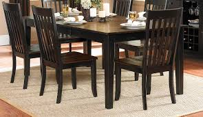 rectangular dining room tables homelegance three falls rectangular dining table two tone dark
