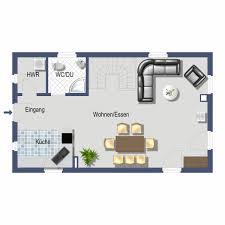 offene kuche wohnzimmer grundriss haus design ideen