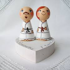 karate cake topper 26 best personalized custom wedding cake toppers wooden