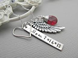 Personalized Remembrance Gifts 15 Best Memory Necklace For Mom Images On Pinterest Angel Wing