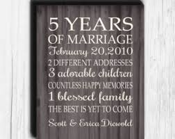 5 year anniversary gift for 10 year anniversary gift print wedding anniversary