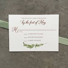 wedding invitations greenery watercolor greenery wedding invitation suite cardinal and straw