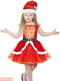 Kids Light Halloween Costume Girls Light Santa Costume Childs Christmas Fancy Dress