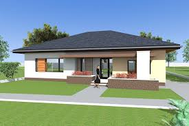 house plan three bedroom bungalow design and 3d elevations single