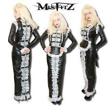 look hobble strait jacket maids dress