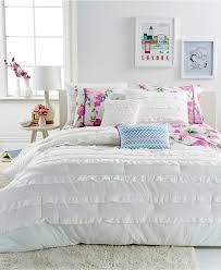 White Comforters Bed Bath And Beyond Bedroom Demi White Ruffle Comforter Bed Set For Bedroom