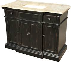 48 inch single sink bathroom vanity with a distressed black finish