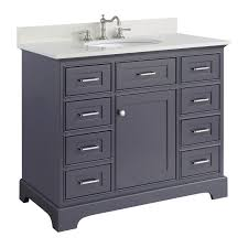 42 inch bathroom cabinet aria 42 inch vanity quartz charcoal gray kitchenbathcollection