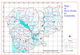Map Of Cambodia Department Of Hydrology And River Work Dhrw