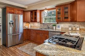 kitchen fascinating natural cherry shaker kitchen cabinets