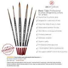 amazon com professional watercolor brushes for gouache