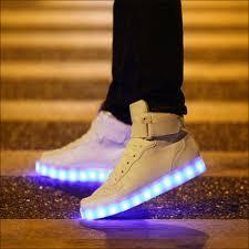 high top light up shoes luminous shoes chaussure led homme femme basket light up shoes women