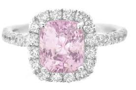 light pink engagement rings 2 05 ctw pink sapphire and ring in 14k white gold cushion