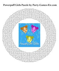powerpuff girls party games free printable games activities