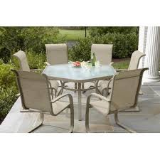 Hexagon Patio Table Aluminum Dining Table Smith Outdoor Design By Kmart