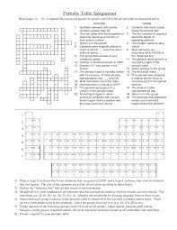 periodic table puzzle worksheet answers periodic table assignment image collections periodic table and