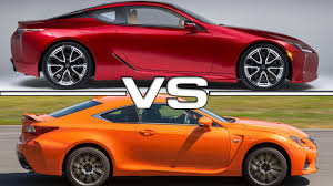 new lexus coupe rcf price lexus lc 500 vs lexus rc f youtube